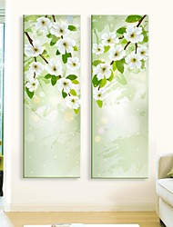 E-HOME® Stretched LED Canvas Print Art  Flower Flash effect LED Set of 2