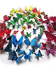 DIY 3D PVC Wall Stickers Colorful Butterfly Fridge Sticker 12PCS/Set