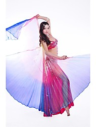 Belly Dance Stage Performance Rainbow None-split Isis Wings with Sticks