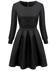 Women's Fashion Jacquard Weave Dress