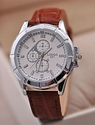 Men's Classic Business Leather Strap Watch High Quality Japanese Quartz Movement Watches(Assorted Colors)