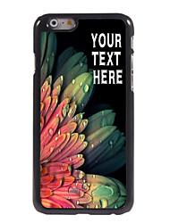 """caja personalizada elegante flor caso del diseño del metal para el iphone 6 (4,7 """")"""