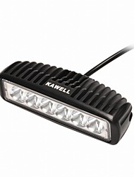 "KAWELL 18W 6.2"" LED for ATV/boat/suv/truck/car/atvs light Off Road Waterproof Led Work Spot Light Bar"