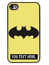 cartoon caso caso design de metal personalizado para iPhone 4 / 4S