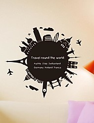 Wall Stickers Wall Decals,  Modern Around the world the blackboard paste PVC Wall Stickers