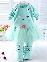 Girl's Sets Two Pieces Sets 2015 Spring Baby Sets Tshirt and Pants Baby Girl Clothing Sets