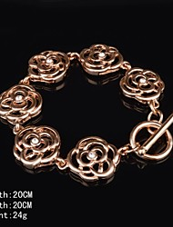 Fashion Rose Gold Plated Cubic Rhinestone Women's Bracelet