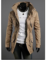 Playgame Men's Casual High Neck Solid Color Jacket