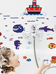 Bathroom Sticker Wall Stickers Wall Decals, Undersea World PVC Bathroom Sticker