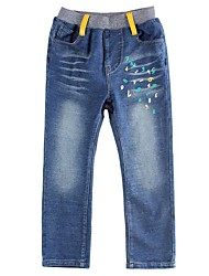 Boy's Pants Baby Boys Cowboy Pants Letter Embroidered Children Pants for Boys Children Jeans