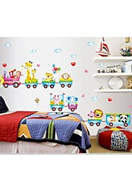 Wall Stickers Wall Decals, Cartoon Train PVC Wall Stickers