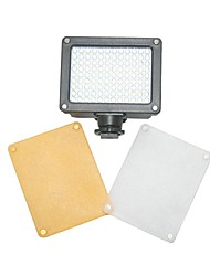 hy80 llevó la lámpara de luz de vídeo 8w 850lm 5600k / 3200k filtro regulable para dslr luz de vídeo de la cámara