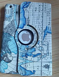 High Quality Mini World Map Pattern PU Full Body Case with 360 Degree Roation for iPad mini (Assorted Colors)