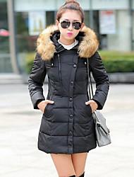 De no.la vrouwen europese mode elegant goedkope katoenen jas