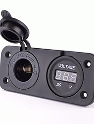 Power Socket With Dc 12V Digital Voltmeter