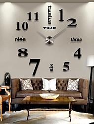 2015 reloj 3d gran decoración para el hogar mentales bricolaje creativo pared personalidad para salón 12s015-s