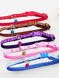Adjustable Nylon Different Lovely Pattern Collar for Pet Dogs(Random Colour)