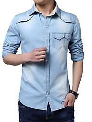 camisa de mezclilla de moda masculina
