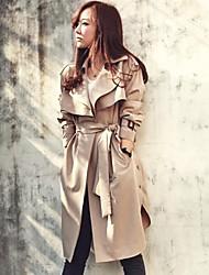 elegante abrigo suelto venta caliente atmosférica de la mujer zanja con cinturón