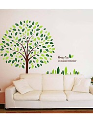 Stickers muraux Stickers muraux, style arbres heureuse mur PVC autocollants