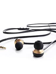Fones de ouvido estéreo de 3,5 mm duplo condutor de 3 botões de ouvido para andriod e outros (125 centímetros)