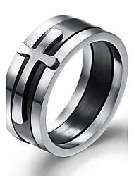 Ringe Hochzeit / Party / Alltag / Normal / Sport Schmuck Titanstahl Herren Bandringe7 / 8 / 9 / 10 Silber
