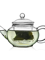 250ml Glass Teapot with Strainer Heat Resisitant Tea Pot 15 x 9 x 7cm