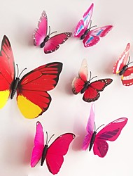 Wall Stickers Wall Decals, Red Magnetic Butterfly Sticker PVC Wall Stickers.