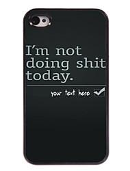 cas personnalisé Je ne fais pas de la merde cas design en métal pour iPhone 4 / 4s