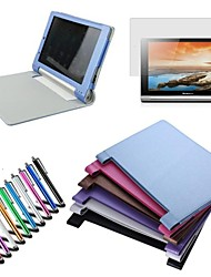 "Foldable PU Leather Cover Stand Case For Lenovo Yoga 10.1"" B8000 Tablet + Pen + Film (Assorted Colors)"