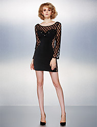 Dress - As Picture Sheath/Column Scoop Short/Mini Tulle