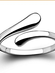 Ring Wedding / Party / Daily / Casual Jewelry Sterling Silver Women Statement RingsAdjustable Silver