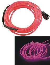 2m auto del coche de largo 2,3 mm de diámetro flexible de la tira de neón el hilo incandescente cable-limitador (12v)