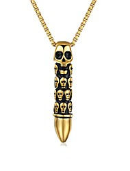 gold mens necklace Personality Skeleton Evil Titanium Steel Necklaces