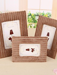 Brown Toweling Photo Frames Composition