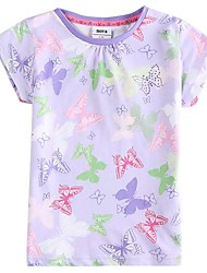 Girl's Tee,Cotton Summer Purple