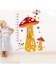 stickers muraux stickers muraux, champignons de style cartoon mignons mesurer votre hauteur pvc stickers muraux