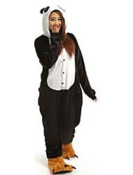 panda bonito pijama kigurumi flanne desenhos animados cosplay sleepwear