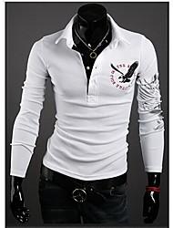 solapa informal camisa de cuello de la impresión de los hombres PlayGame