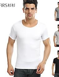 roupas masculinas da marca abetos nova moda esporte casual 100% algodão Preto Branco Cinza tee o-pescoço camisas camisetas homens
