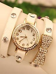 elegante relógio de strass feminino de papoula