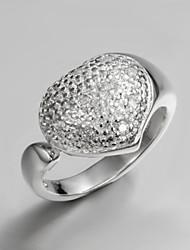 2016 Luxury  Big Heart Wedding Love Sterling Silver Zircon Ring For Women
