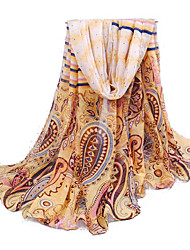 Women's Bohemian Ethnic Beige Thin Paris Yarn Scarf
