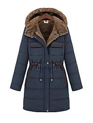 Peach John Women's Long Sleeve Slim Fashion Hoodie Thicken Overcoat