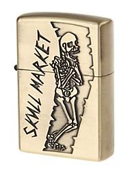 6135 crâne carburant en alliage léger motif de zinc (laiton antique)