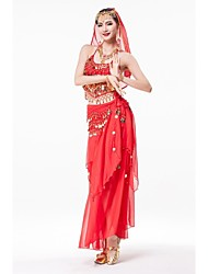 Belly Dance Stage Performance Indian Style Costume Outfits 4 Pieces