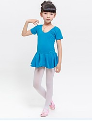 Ballet Kid's Cotton Lovely Sweet Short Sleeve Dress(More Colors) Kids Dance Costumes