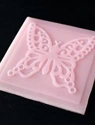 Butterfly Lace Embossing Dies Fondant Cake Chocolate Silicone Mold Pad,Cupcake Decoration Tools,L6.8cm*W6.8cm*H0.3cm