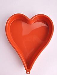 forma do coração moldes do bolo, silicone 26,5 × 21,5 × 3 cm (10,5 × 8,5 × 1,2 polegadas)