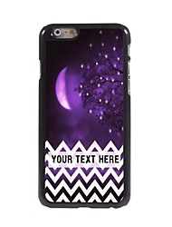 Personalized Phone Case - Purple Moon Design Metal Case for iPhone 6 Plus